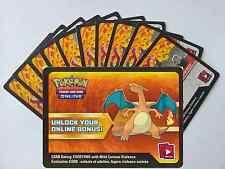 x10 Flammenmeer Pokemon TCGO OnLine Code Karten + 1 Bonus Glurak EX XY17 Code