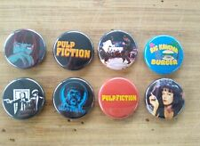 "8 1"" Pulp Fiction pinback badges buttons"