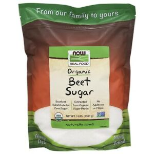 NOW Foods Beet Sugar 3 lbs FREE SHIPPING. MADE IN USA. FRESH
