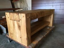 Oak beam coffee table, rustic,  hand made