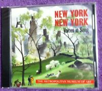 2005 🔥NEW YORK🔥 Brand New Factory Sealed CD *Voices in Song* The Met FREE SHIP