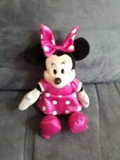 "Disney Parks Authentic 7"" Holiday Sparkle Minnie Mouse Christmas Plush Stuffed"