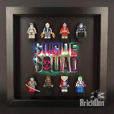 LEGO Superheroes Suicide Squad mini figure Display Frame Black Gift
