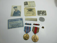 WWII World War II US Navy SAILOR DOG TAGS , ID CARD , DISCHARGE CARD REALM THING