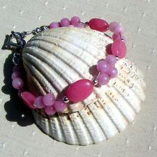"""Pink Morganite Crystal Gemstone Bracelet """"Sweet Sundae"""""""