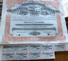 Vintage Chinese Bond Share Certificate Tramways En Chine Trams Trains Railwayana