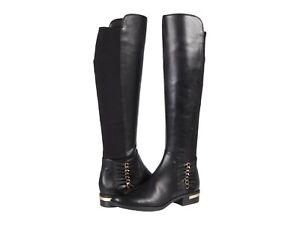 Vince Camuto Women's Prolanda Leather Riding Boot Size 10M Black