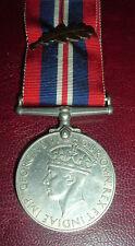 MEDALS-ORIGINAL WW2 BRITISH 1939-45 WAR SERVICE MEDAL + MID EMBLEM