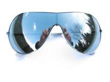 Occhiali da sole da uomo con lenti in argento specchio 100% UVA & UVB