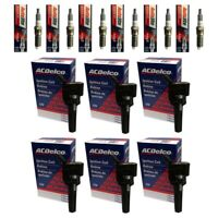 New ACDelco Ignition Coils (6) + (6) Autolite Spark Plugs For 2006-12 Buick GMC
