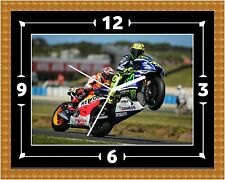 Valentino Rossi (02) Clock Gift Present Christmas Birthday (Can Be Personalised)