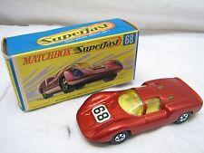 Matchbox SuperFast Lesney 68 Porsche 910 Red Race Car w/Box Minty Super Fast
