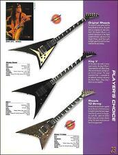 Jackson Randy Rhoads 10-string King V guitar 8x11 ad print w/ specs Danny Spitz