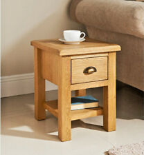SOLID WILTSHIRE OAK SIDE TABLE COFFEE TEA LETTER TELEPHONE LAMP TABLE DRAWER NEW
