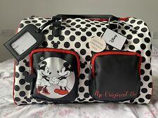 Primark Disney Mickey&Minnie Hand Luggage Bag Polka Dot Black Rare Cheapest BN🌹