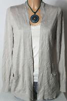 H&M Jacke Gr. S silber-grau Blusenjacke/Jacke/Shirtjacke mit blauen Blumen