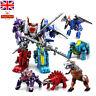 Power Rangers Transformers Toys Dinosaur Robots ABS Kids Action Figure Play Set