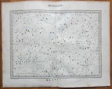 Hoffmann: Rare Large Handcolored Celestial Map Hercules - 1835
