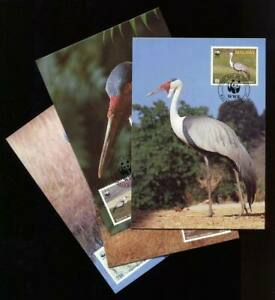 26337) Malawi 1987 Wwf - FDC Maxicard Birds - Birds