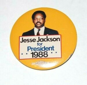 """1988 JESSE JACKSON 2.25"""" INCH presidential campaign pin pinback button political"""
