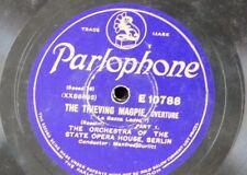 "78rpm 12"" THIEVING MAGPIE OVERTURE berlin state opera , manfred gurlitt"