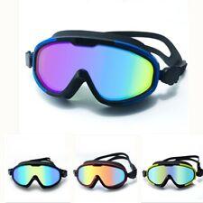 Waterproof Large Frame Swimming Goggles Anti-Fog HD UV Protection Swim Glasses
