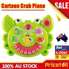 Cartoon Crab Piano Kids Educational Electronic Organ Music Intelligence Toy Gift