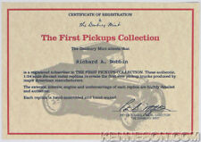 Danbury Mint Certificate of Registration The First Pickups Collection