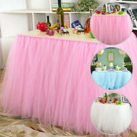Princess TUTU Tulle Table Skirts for Wedding Party Birthday Baby Shower Birthday