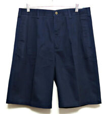 New+Tags Adventure Bound Clipper Men's Navy Blue Cotton Pleated Shorts - Sz 42