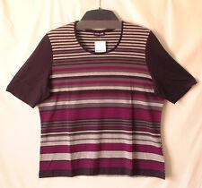 Samoon Shirt by Gerry Weber Rundhals Jersey Stretch grau Neu Longshirt Damen Gr.