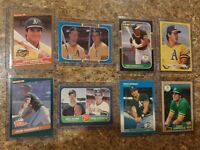 (8) Jose Canseco 1986 1987 Donruss Fleer Topps Leaf Rookie card lot RC McGwire