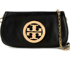 Tory Burch Reva Clutch crossbody black leather bag