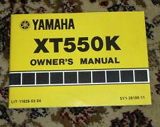 Yamaha XT350N XT350NC Owner's Manual,VG,SB,1984,First   wr