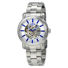 Invicta Vintage Objet D Art Automatic Silver Dial Mens Watch 22573