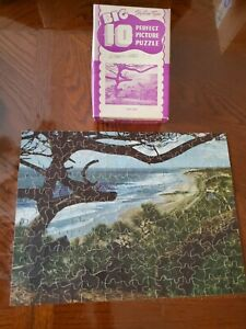 Vintage Jigsaw Puzzle AUK LAKE Alaska Big 10 Perfect Picture COMPLETE USA Old