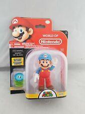 """SUPER MARIO 4"""" FIGURE Ice Mario World of Nintendo Jakks"""
