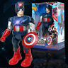 Avengers Captain America 26cm  Action Figure Walking with Flashing Light & Sound