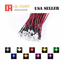 9colorsx5 45pcs 5mm Flat Top Pre Wired White Red Light Dc 9 12v Led Mix Kits