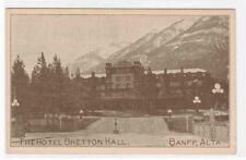 The Hotel Bretton Hall Banff Alberta Canada postcard