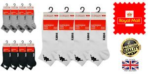 New Men's 3 Pack of Kappa Quarter Cotton Rich Sports Tennis Socks UK 6-8 & 9-11