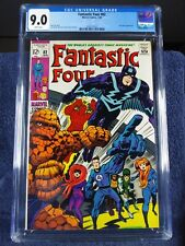 Fantastic Four #82, CGC 9.0, WHITE pages, 1969, new slab