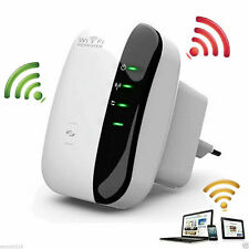 Wifi 300Mbps Signal Extender Booster Wireless-N AP Range 802.11 Repeater + Cable