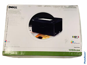 🔥 Dell Color Workgroup Laser Printer • Model 1350cnw • New • Sealed • Rare !