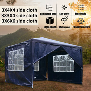 Large Outdoor Pavilion Gazebo Marquee Waterproof Garden Party Tent 3x 3/4/6m
