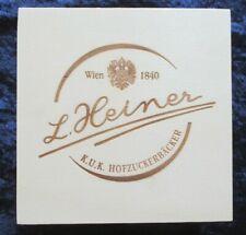 Holzkiste L.Heiner Schatulle Aufbewahrungsbox Holzbox 13,5 x 13,5 x 7,5 cm