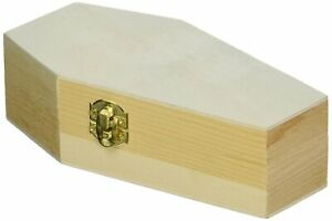 """Small Wood Funeral Coffin, 6"""" Size, Fillable for Parties, Goth, Pet Burials"""