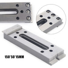 Stainless Steel Fixture Tools Cnc Wire Edm M8 Board Jig Lathe Clamp 150x50x15mm