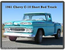 1961 Chevy C-10 Short Bed Truck  Auto Refrigerator / Tool Box  Magnet
