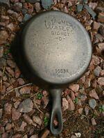 Vintage Fully Restored Wagner Ware # 3 Cast Iron Skillet # 1053 H Flat